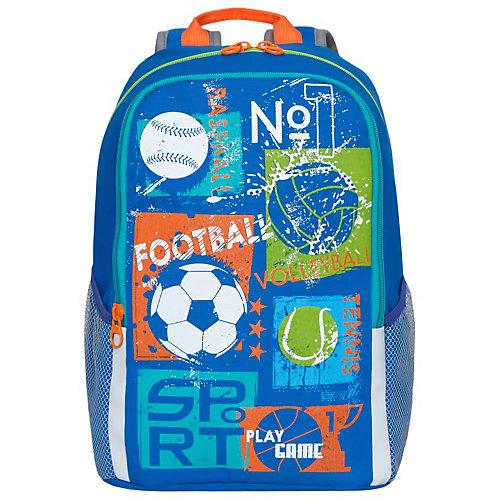 Рюкзак школьный Grizzly, синий от Grizzly
