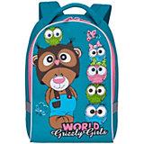 Рюкзак детский Grizzly, бирюзовый