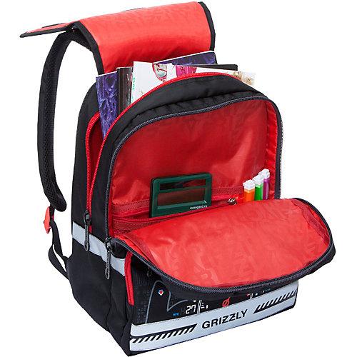 Рюкзак школьный Grizzly, черно-серый от Grizzly