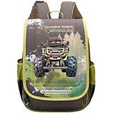 Рюкзак школьный Grizzly, хаки / бежевый