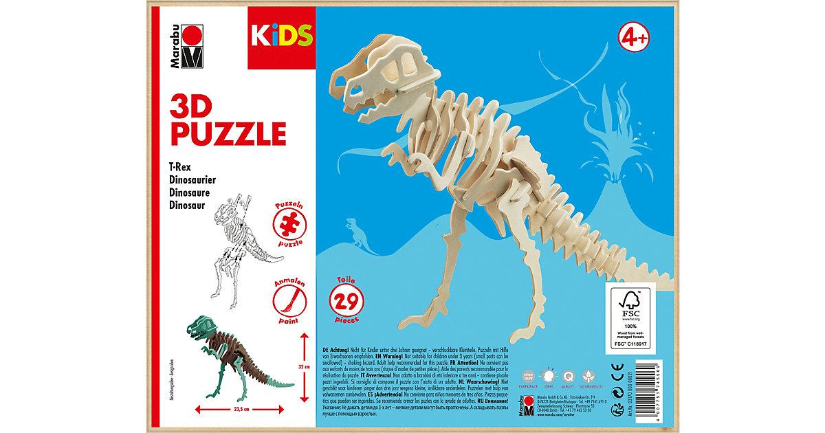 KIDS 3D Puzzle Holzbausatz Dinosaurier T-Rex