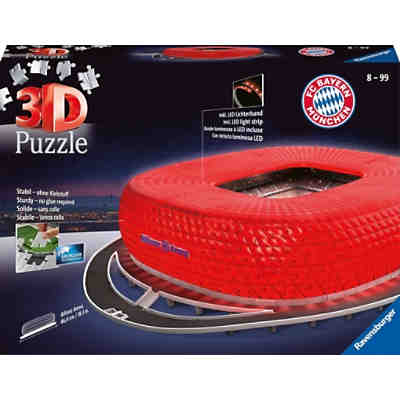 3D-Puzzle Night mit LED, B46cm, 216 Teile, Allianz Arena bei Nacht