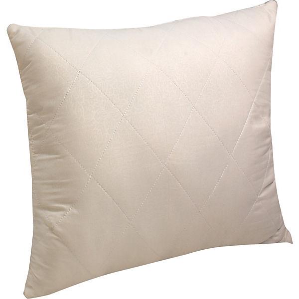 Подушка Василиса 70х70 см, шерсть мериноса / микрофибра
