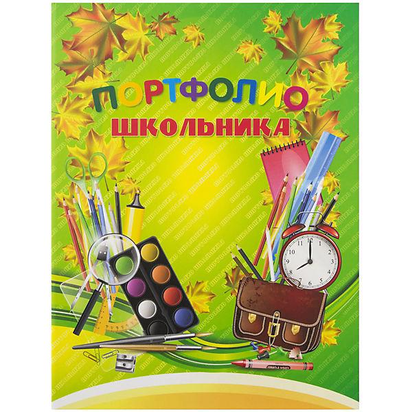 Портфолио школьника А4 7БЦ тип крепления - скоросшиватель, 12 тематических вкладок