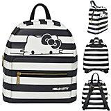 Рюкзак-мини HELLO KITTY, размер 28х24х12 см, черно-белая полоска, иск.кожа,для девочек