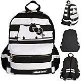 Рюкзак HELLO KITTY, разм.40х30х14 см, черно-белая полоска, мягкая спинка, из хлопковой ткани