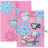 Блокнот с замком ACTION!, Blue Nose Friends, твердая обложка, подарочная упаковка