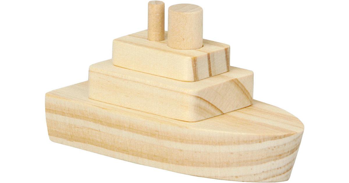 Holzbausatz Dampfer, 2 Stück