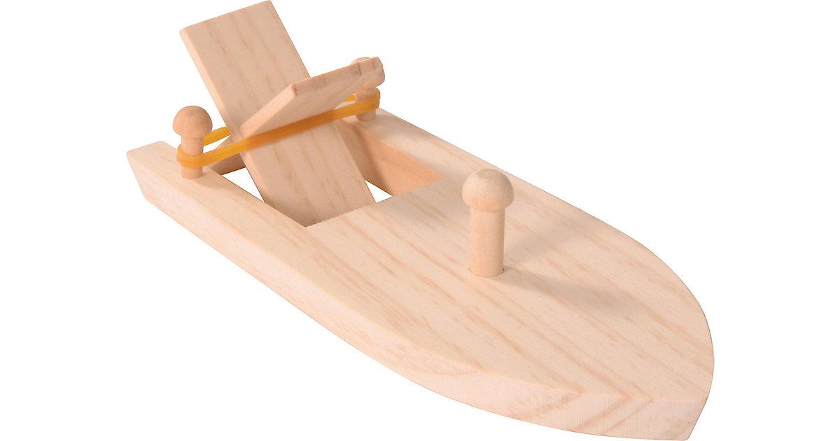Holzbausatz Boot mit Gummiantrieb