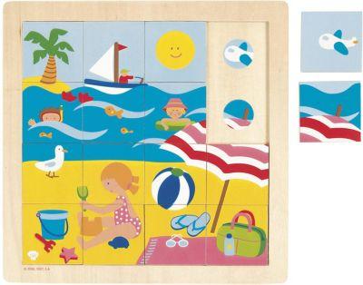 Holzspielzeug GOKI Schichtenpuzzle FISCH Steckpuzzle Einlegepuzzle Holz Puzzle Kinder Motorik