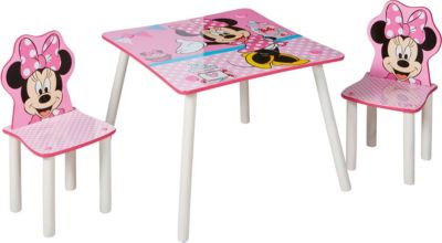 Kindersitzgruppe Minnie, 3 tlg., Disney Minnie Mouse