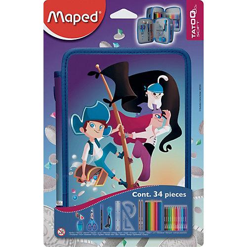 Пенал с наполнением Maped Пираты, 34 предмета от Maped