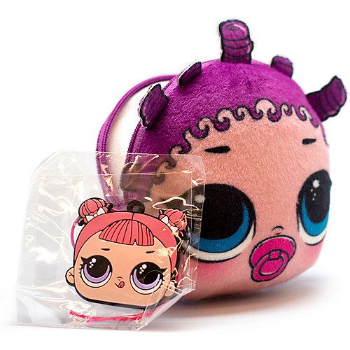 Плюшевая сумочка-антистресс LOL с сюрпризом, LilRollerSKater - фиолетовый от MGA