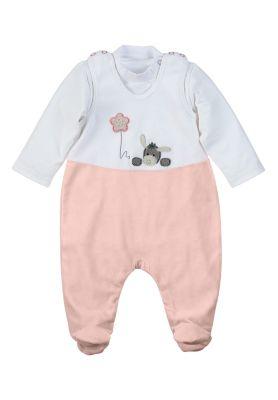 KANZ Girls Baby Stramplerset 2-teilig Mädchen Babystrampler Strampler rosa pink