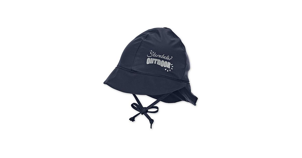 Sterntaler Regenbekleidung Regenhut m. Nackenschutz Regenhüte dunkelblau Gr. 45 Jungen Baby