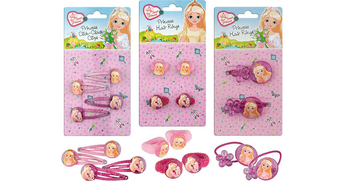 Sweet Princess Haar Accessoires Mitgebsel-Tüte, 3 x 2 Stück