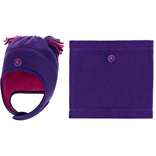 Комплект Premont: шапка и снуд - лиловый от Premont