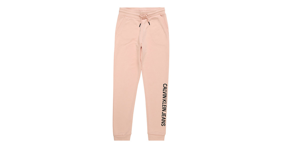 CALVIN KLEIN JEANS · Calvin Klein Jeans Hose LOGO COTTON TERRY SWEATPANTS Jerseyhosen Gr. 128