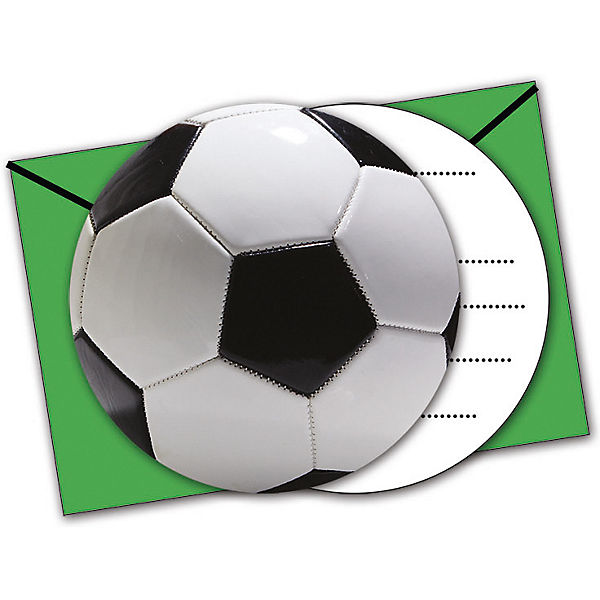 Gestanzte Einladungskarten Mit Umschlagen Fussball Party 6 Stuck Procos