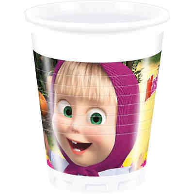 Partybecher Masha and The Bear 200 ml, 8 Stück