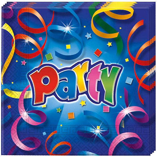 Servietten zweilagig Party Streamers Prismatic 33 x 33 cm, 20 Stück