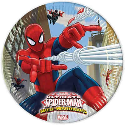 Pappteller Ultimate Spiderman Web Warriors 23 cm, 8 Stück