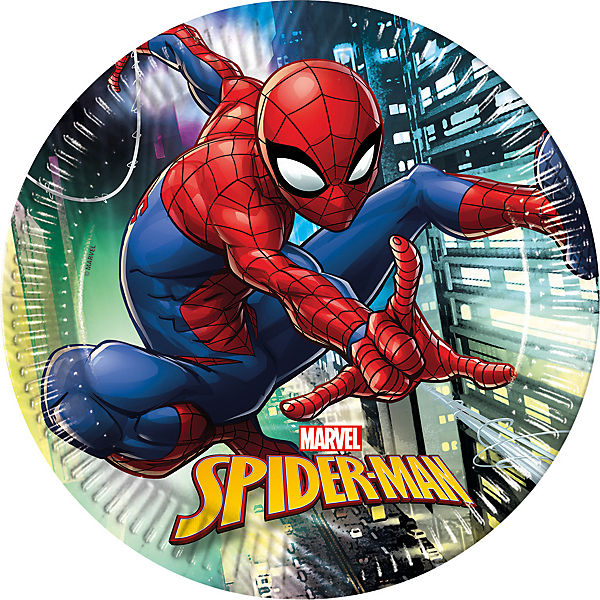 Pappteller Spiderman Team Up 23 cm, 8 Stück