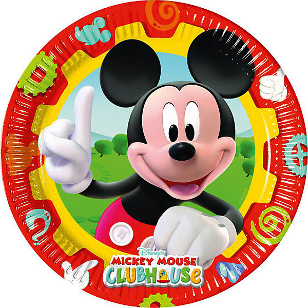 Pappteller Mickey Mouse Club House 23 cm, 10 Stück