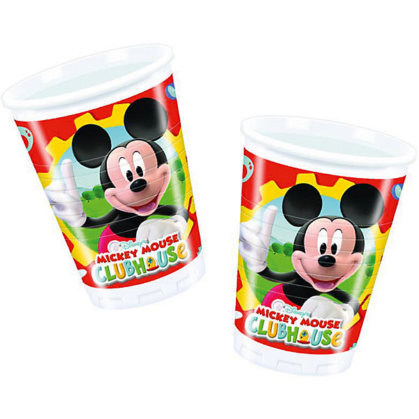 Partybecher Mickey Mouse Club House 200 ml, 10 Stück