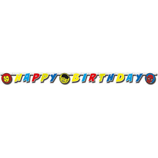 Happy Birthday Girlande Avengers Team Power 200 x 14 cm