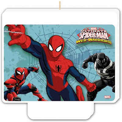 Kerze Happy Birthday Dekor Ultimate Spiderman Web Warriors