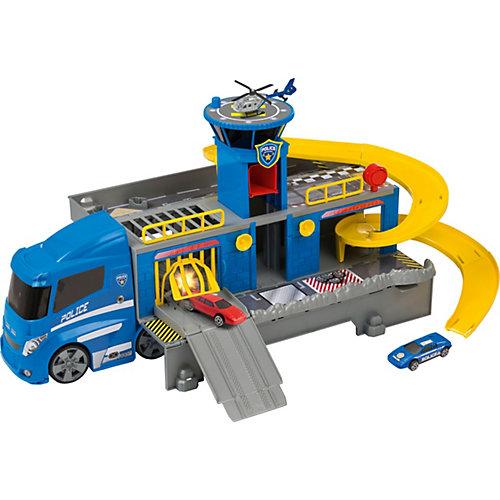 Полицейский  грузовик HTI, 2 машинки и вертолет от HTI