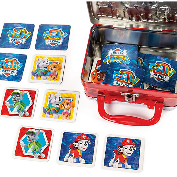 Spin Master Games PAW Patrol Memo Match Spiel - in Mini - Metallkoffer