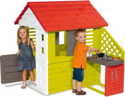 Игровой домик с кухней Smoby, красный