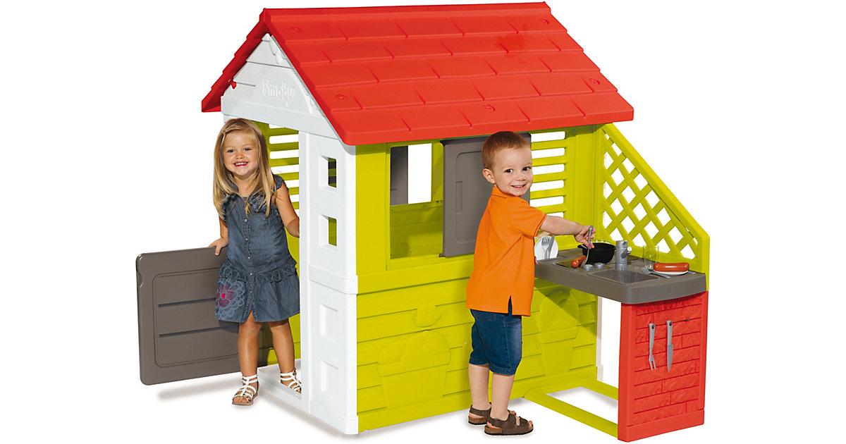 Natur Haus mit Sommerküche bunt