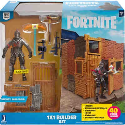 FORTNITE - 1x1 Builder Set mit Spielfigur Black Knight Serie 1