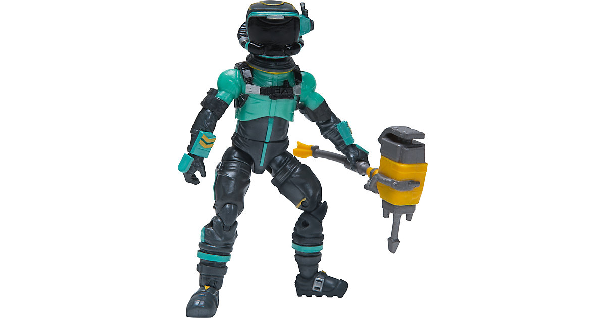 FORTNITE - Solo Mode Figur Toxic Trooper, 10 cm anthrazit/türkis