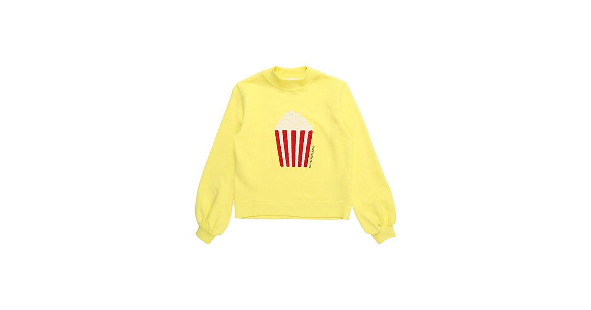 CALVIN KLEIN JEANS · Calvin Klein Jeans Sweatshirt POPCORN TOWEL PRINT Sweatshirts Gr. 164 Mädchen Kinder