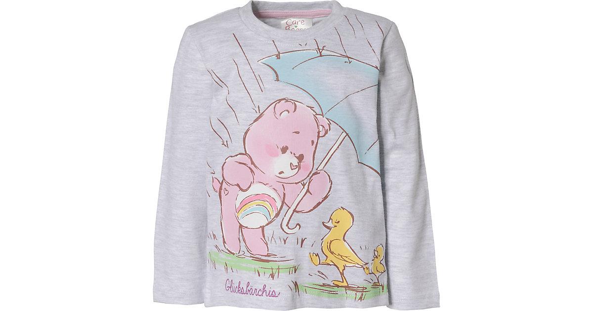 Die Glücksbärchis Baby Langarmshirt , Organic Cotton hellgrau Gr. 68/74 Mädchen Baby