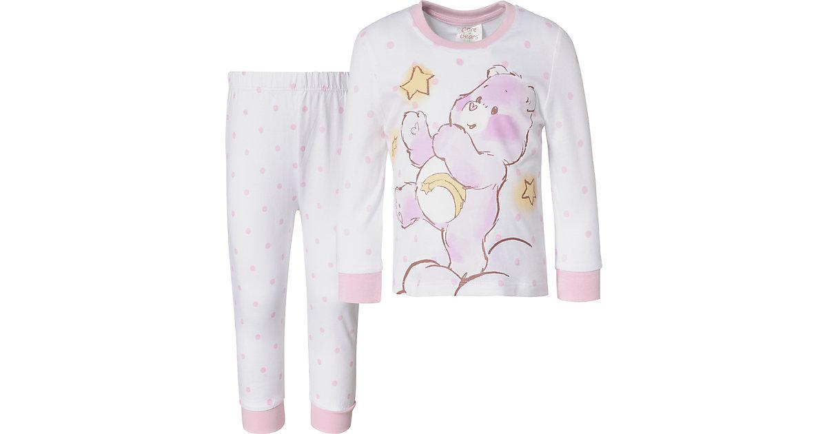 Die Glücksbärchis Baby Schlafanzug , Organic Cotton weiß Gr. 68/74 Mädchen Baby