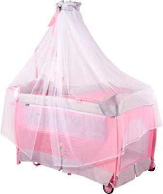 Манеж Lorelli Sleep'N'Dream rocker, серо-розовый