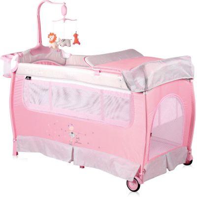 Манеж Lorelli Sleep'N'Dream, серо-розовый