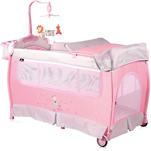 Манеж Lorelli Sleep'N'Dream, серо-розовый от Lorelli
