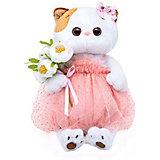 Мягкая игрушка Budi Basa Кошечка Ли-Ли с белым букетом, 24 см