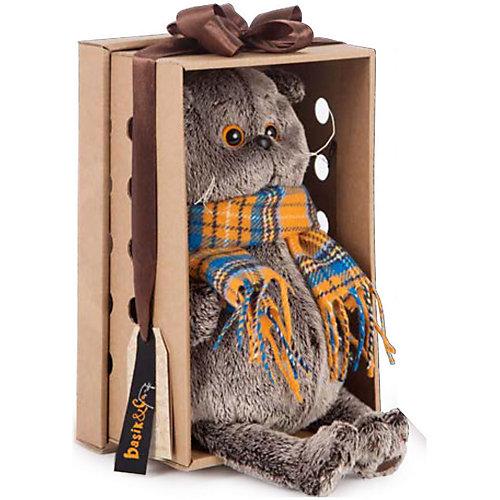Мягкая игрушка Budi Basa Кот Басик с букетом оранжевых пионов, 22 см от Budi Basa