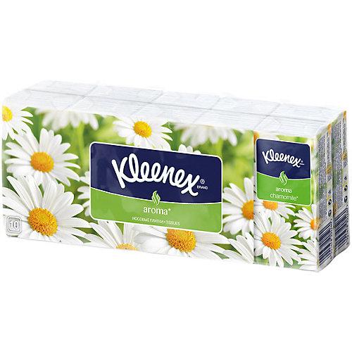 Носовые платочки Kleenex Chamomile, упаковка 10 штук от Kleenex