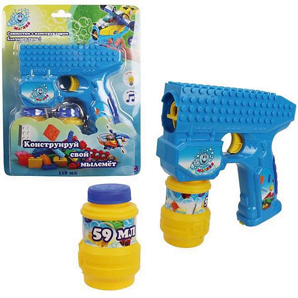 """Мыльные пузыри 1Toy """"Мы-шарики!"""", Пистолет на батарейках, 2 бутылочки по 59 мл"""