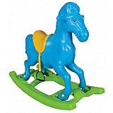 """Качалка Pilsan Windy Horse """"Лошадка"""", со стременами, голубая"""