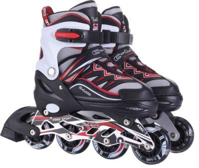 Роликовые коньки 1Toy, черно-красные