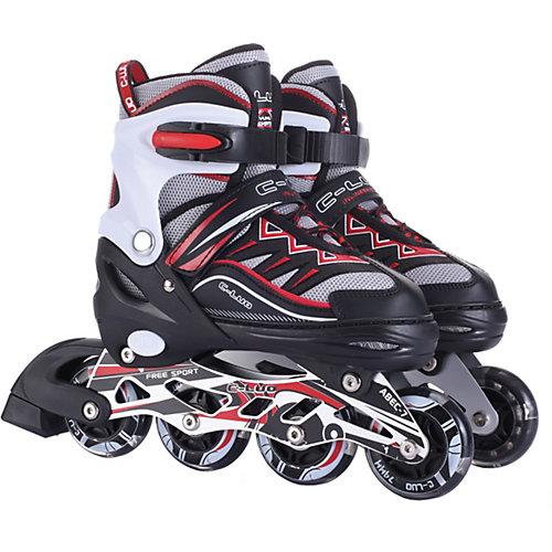 Роликовые коньки 1Toy, черно-красные - черный/розовый от 1Toy